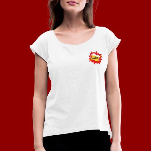 Zimbe - Frauen T-Shirt mit gerollten Ärmeln