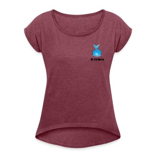 HI IM GARRY - Maglietta da donna con risvolti