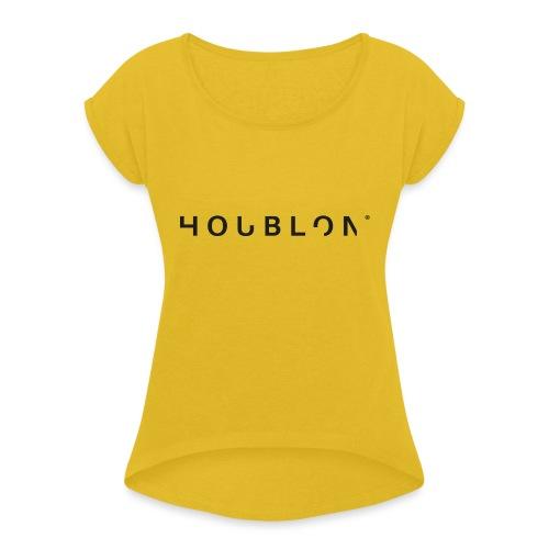 HOUBLON® - Vrouwen T-shirt met opgerolde mouwen