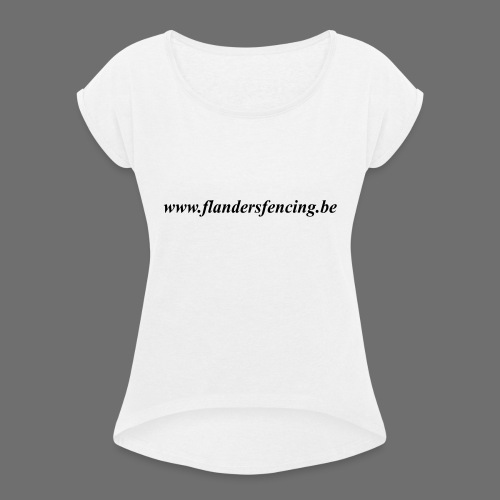 wwww.flandersfencing.be - Vrouwen T-shirt met opgerolde mouwen