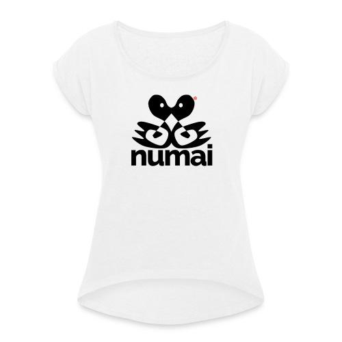 Numai - Maglietta da donna con risvolti