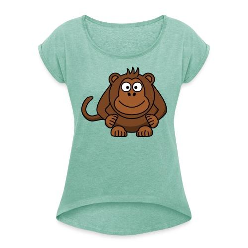 Monkey t-shirt - Dame T-shirt med rulleærmer