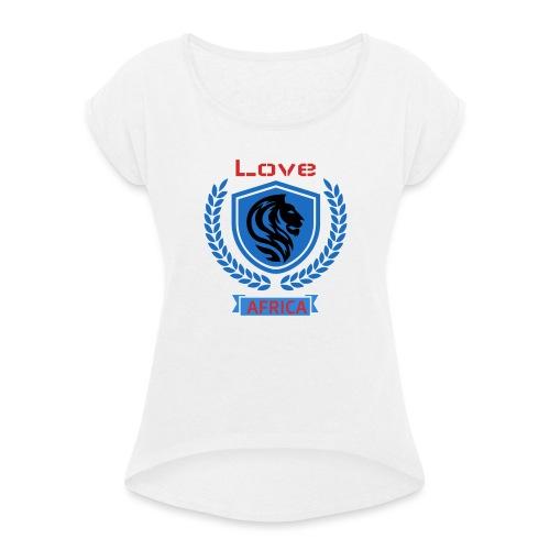 love bleu - T-shirt à manches retroussées Femme