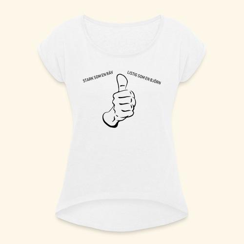 Starksomenräv - T-shirt med upprullade ärmar dam