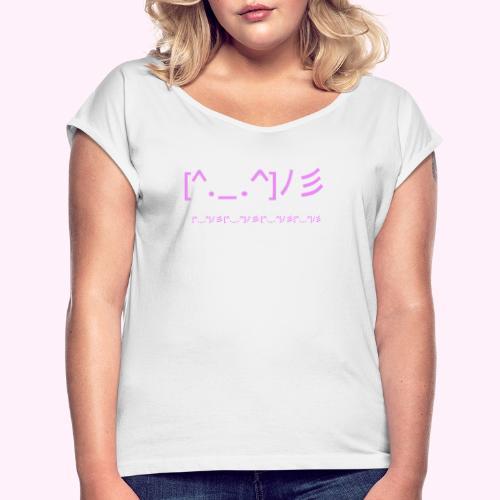 classic logo for regular people - Dame T-shirt med rulleærmer