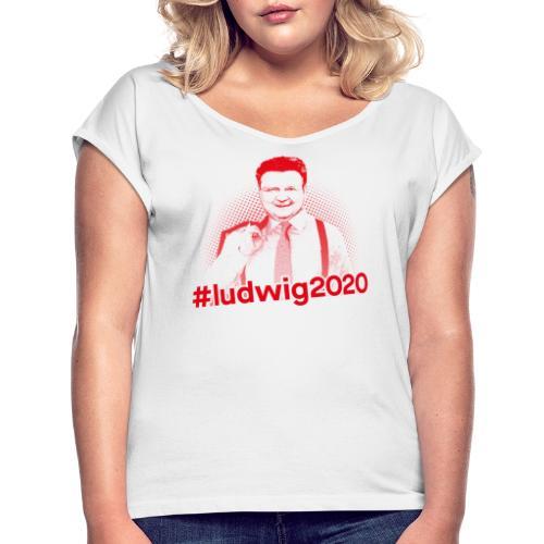 Ludwig 2020 Illustration - Frauen T-Shirt mit gerollten Ärmeln