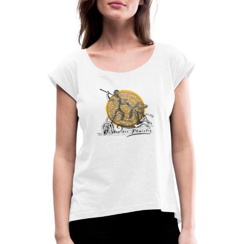 diskos - Frauen T-Shirt mit gerollten Ärmeln
