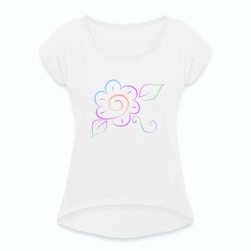 Tonalidades de en flor - Camiseta con manga enrollada mujer