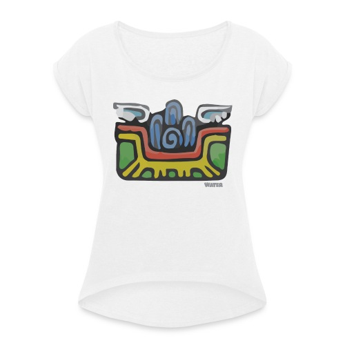 Aztec Water - Women's T-Shirt with rolled up sleeves