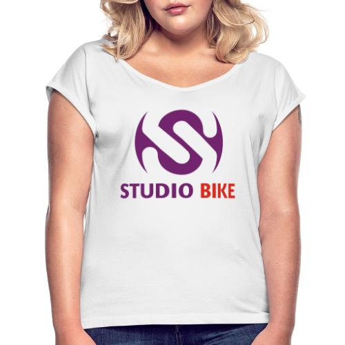 purple red - Women's T-Shirt with rolled up sleeves