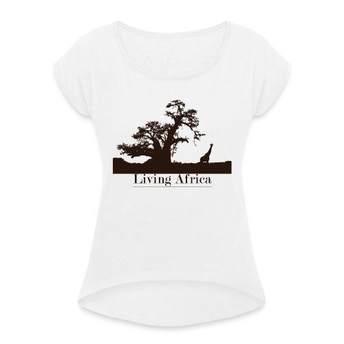 Ultimate_Living_Africa-png - Maglietta da donna con risvolti