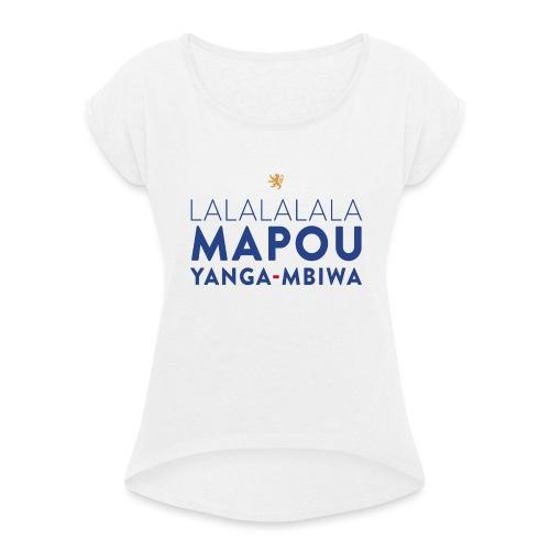 Mapou YANGA-MBIWA - T-shirt à manches retroussées Femme