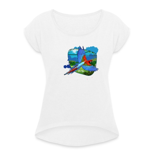 Perroquet jungle - T-shirt à manches retroussées Femme
