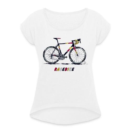 RACEBIKE - Frauen T-Shirt mit gerollten Ärmeln