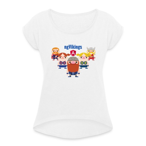 Viking Friends - Women's T-Shirt with rolled up sleeves