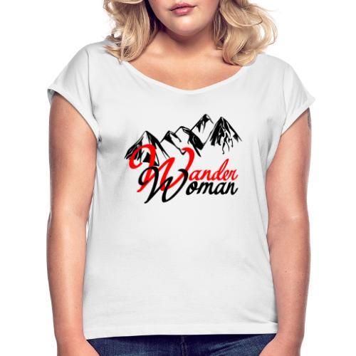 WanderWoman Wandern 2021 - Frauen T-Shirt mit gerollten Ärmeln