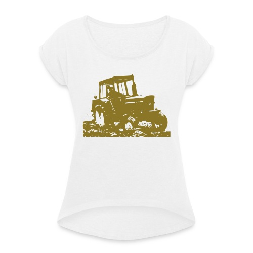 JD3130 - Women's T-Shirt with rolled up sleeves