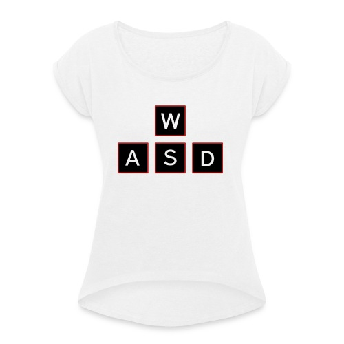 aswd design - Vrouwen T-shirt met opgerolde mouwen
