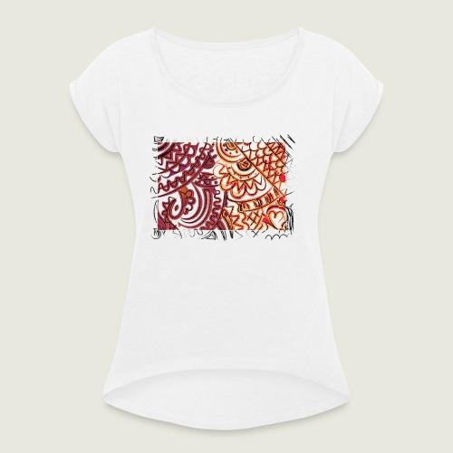 artfreetime - Maglietta da donna con risvolti
