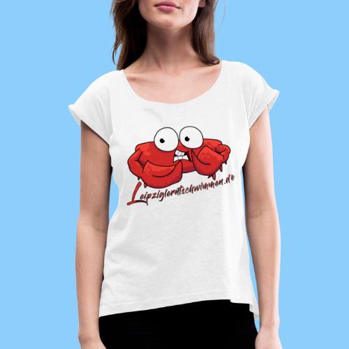 Krabbe2019 - Frauen T-Shirt mit gerollten Ärmeln