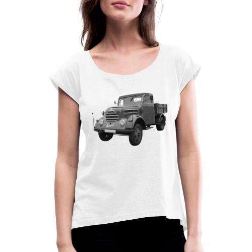 Garant K 30 Robur Zittau DDR Oldtimer Lkw - Frauen T-Shirt mit gerollten Ärmeln