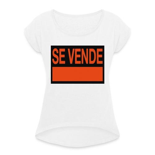 SE VENDE - Camiseta con manga enrollada mujer