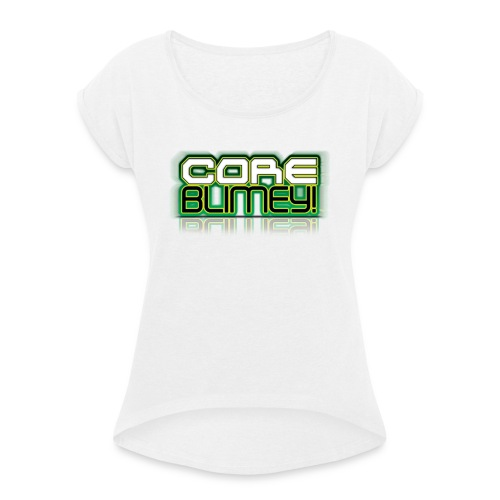 CB LOGOGREEN Copy - Women's T-Shirt with rolled up sleeves