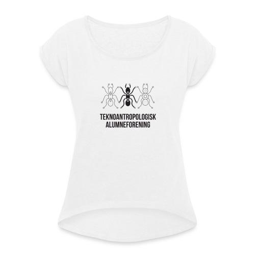 Teknoantropologisk Støtte T-shirt alm - Dame T-shirt med rulleærmer