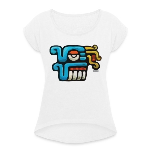Aztec Icon Rain - Women's T-Shirt with rolled up sleeves