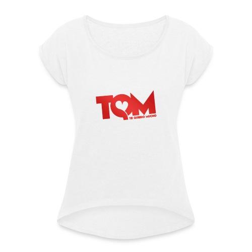 TQM- cappellino - Maglietta da donna con risvolti
