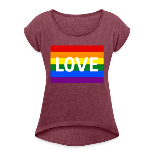 LOVE BELT BAG - Dame T-shirt med rulleærmer
