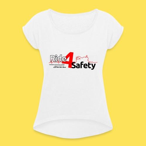 Ride 4 Safety - Maglietta da donna con risvolti