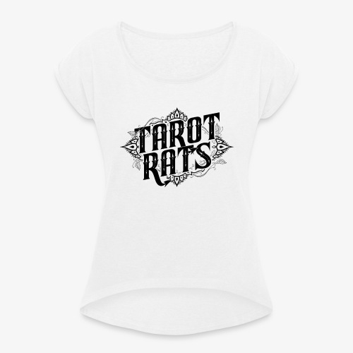 Tarot Rats Logo CLEAR - Women's T-Shirt with rolled up sleeves