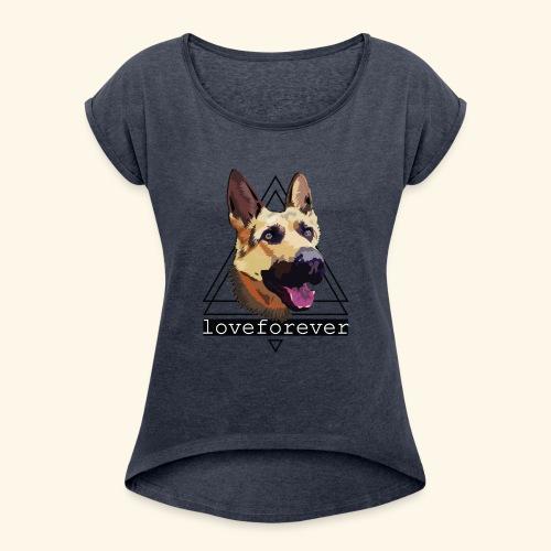 SHEPHERD LOVE FOREVER - Camiseta con manga enrollada mujer