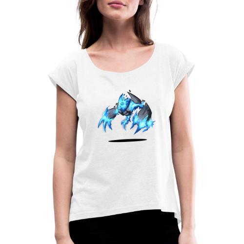 Arcane Golem - Frauen T-Shirt mit gerollten Ärmeln