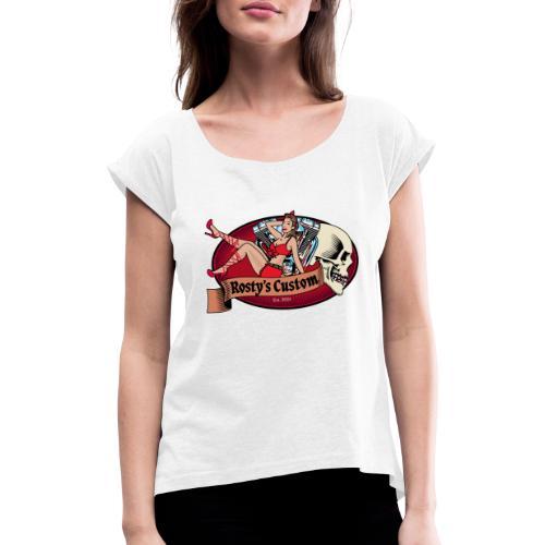 Standart Logo - Frauen T-Shirt mit gerollten Ärmeln