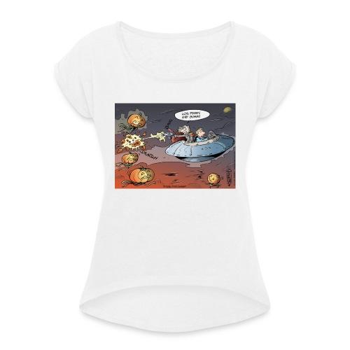DP492 GibGummi - Frauen T-Shirt mit gerollten Ärmeln