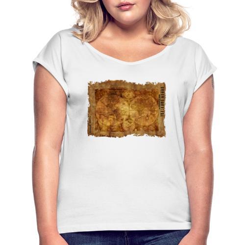 map of the world 2241469 1920 - Frauen T-Shirt mit gerollten Ärmeln