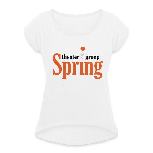 T-shirt met logo Theatergroep Spring | Unisex - Vrouwen T-shirt met opgerolde mouwen