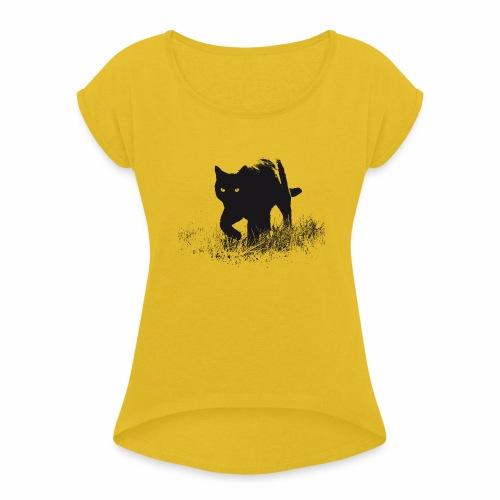 Timo - Frauen T-Shirt mit gerollten Ärmeln