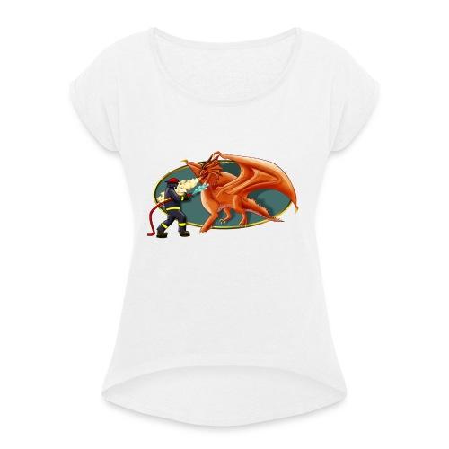drachenfeuerwehr - Frauen T-Shirt mit gerollten Ärmeln