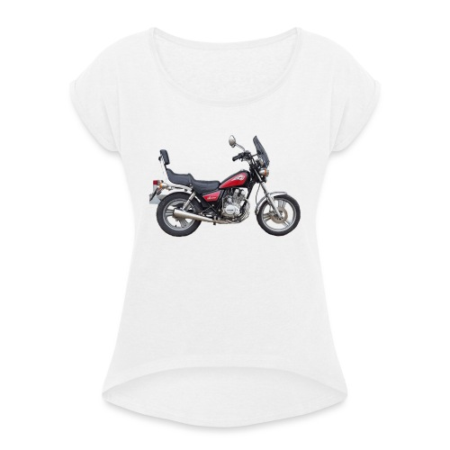 snm daelim vc 125 f advace seite rechts ohne - Frauen T-Shirt mit gerollten Ärmeln