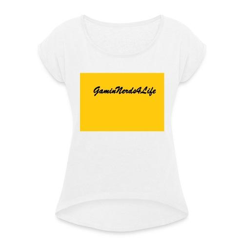 GamingNerds4Life - T-skjorte med rulleermer for kvinner