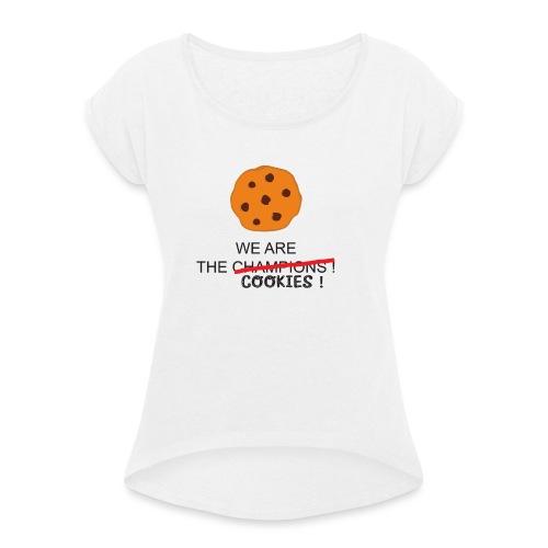 WE ARE THE COOKIES - Maglietta da donna con risvolti