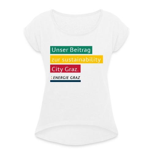 Energie Graz Vision - Frauen T-Shirt mit gerollten Ärmeln