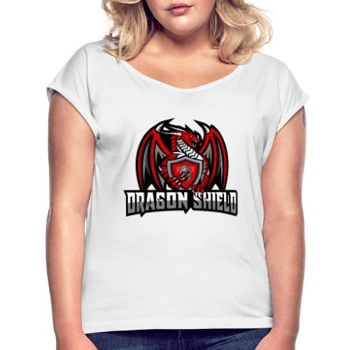 Dragon Shield - Women's T-Shirt with rolled up sleeves