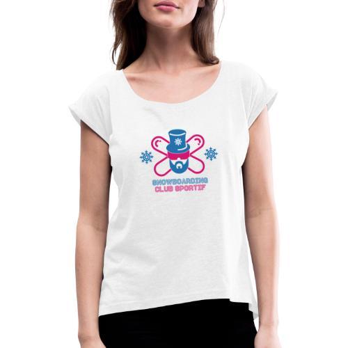 Logo snow 1 3x - T-shirt à manches retroussées Femme