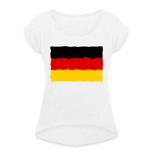 germany - Camiseta con manga enrollada mujer