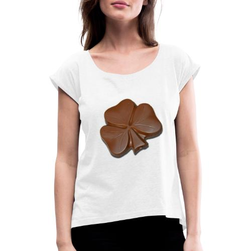 Chocolate Shamrocks - Women's T-Shirt with rolled up sleeves