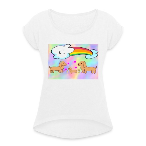 2BA61477 B274 47B5 A0CD 3D8AD17E883B - Women's T-Shirt with rolled up sleeves